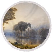 By The Waters Of Babylon Round Beach Towel