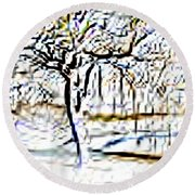 By Waters Edge Round Beach Towel