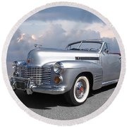 Bygone Era - 1941 Cadillac Convertible Round Beach Towel