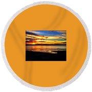 Byron Bay Sunset  Round Beach Towel
