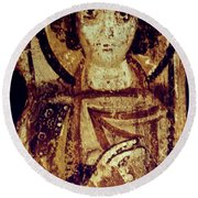 Byzantine Icon Round Beach Towel