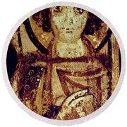 Byzantine Icon Round Beach Towel