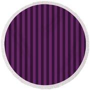 Byzantium Purple Striped Pattern Design Round Beach Towel