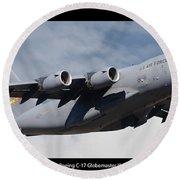 C-17 Globemaster IIi Poster Round Beach Towel