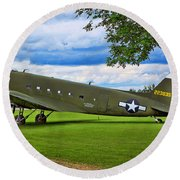 C-47 Special Delivery Round Beach Towel