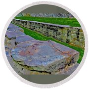C And O Canal Lock Round Beach Towel