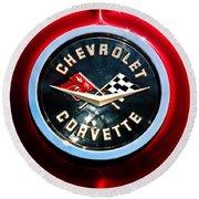 C2 Corvette Logo Round Beach Towel