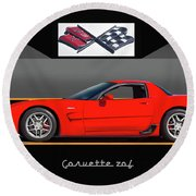 C5 Corvette Zo6 'profile' I Round Beach Towel