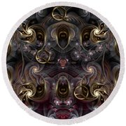 Cabalistic Symmetry Of Q Round Beach Towel