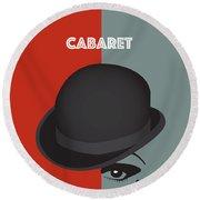 Cabaret - Alternative Movie Poster Round Beach Towel