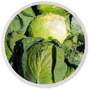 Cabbage Round Beach Towel