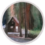 Cabin In The Woods 08 Round Beach Towel
