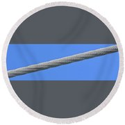 Cable Round Beach Towel