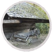 Cable Mill Barn Round Beach Towel