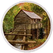 Cable Mill Cades Cove Smoky Mountains Tennessee In Autumn Round Beach Towel
