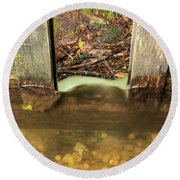 Cable Mill Flume 1 A Round Beach Towel