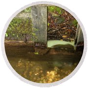 Cable Mill Flume 1 B Round Beach Towel