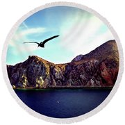 Cabo And The Cliffs Round Beach Towel