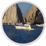 Cabo San Lucas - Sport Fishing Round Beach Towel