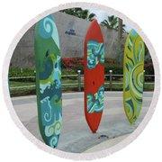 Cabo Surfboard Sculpture 1 Round Beach Towel