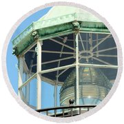 Cabrillo Lighthouse 1 Round Beach Towel