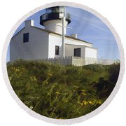 Cabrillo Lighthouse Round Beach Towel
