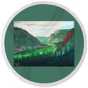 Cache Le Pudre Valley Round Beach Towel