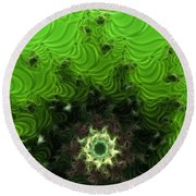 Cactus Abstract Round Beach Towel