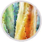 Cactus Detail #1 Round Beach Towel