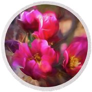 Cactus Flower 07-002 Round Beach Towel