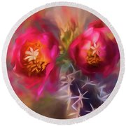 Cactus Flower 07-003 Round Beach Towel