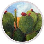 Cactus Pears Round Beach Towel