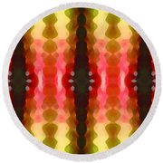 Cactus Vibrations 2 Round Beach Towel by Amy Vangsgard