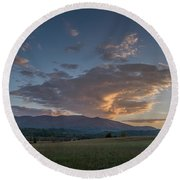 Cades Cove - Great Smoky Mountains National Park Round Beach Towel