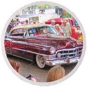 Cadillac Coupe Deville Round Beach Towel