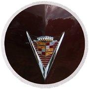 1949 Cadillac La Salle - Hood Ornaments Round Beach Towel