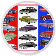 15 Cadillacs The Poster Round Beach Towel