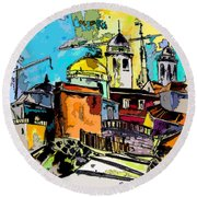 Cadiz Spain 02 Bis Round Beach Towel