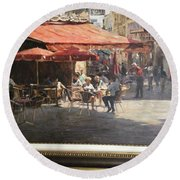 Cafe Et Pasteries Round Beach Towel