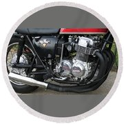 Cb750 Cafe Racer Round Beach Towel