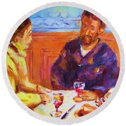Cafe Renoir Round Beach Towel