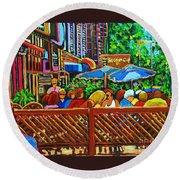 Cafe Second Cup Round Beach Towel