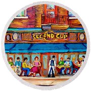 Cafe Second Cup Terrace Round Beach Towel
