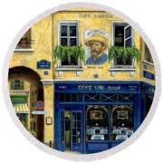 Cafe Van Gogh Round Beach Towel