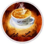 Caffe Latte Round Beach Towel
