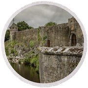 Cahir Castle 1384 Round Beach Towel