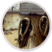 Caillebotte: Planers, 1875 Round Beach Towel