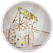 Cain's Round Beach Towel