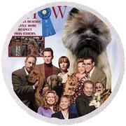 Cairn Terrier Art Canvas Print - Best In Show Movie Poster Round Beach Towel