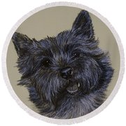 Cairn Terrier Round Beach Towel